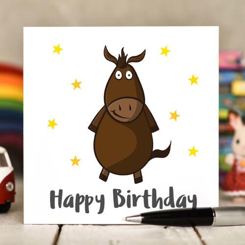 Horse Birthday Card - The Crafty Giraffe