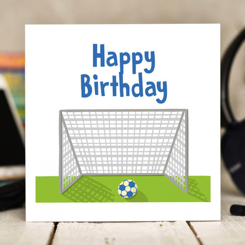 Football Birthday Card - The Crafty Giraffe