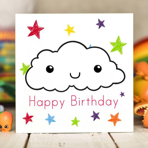 Cloud Birthday Card - The Crafty Giraffe