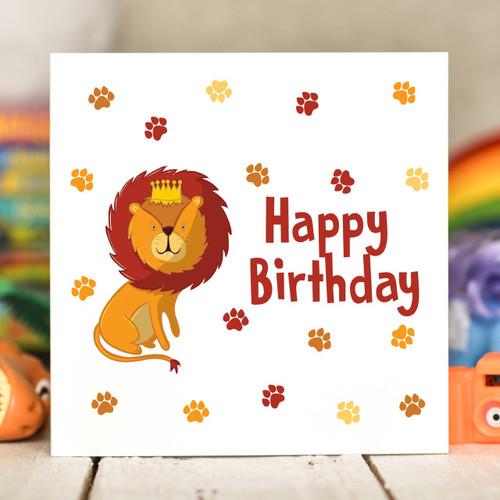 Lion Birthday Card - The Crafty Giraffe