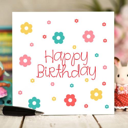 Flowers Birthday Card - The Crafty Giraffe