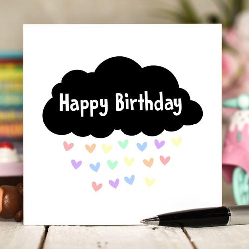 Black Cloud Birthday Card - The Crafty Giraffe