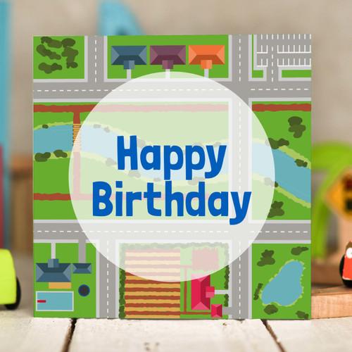 Road Birthday Card - The Crafty Giraffe