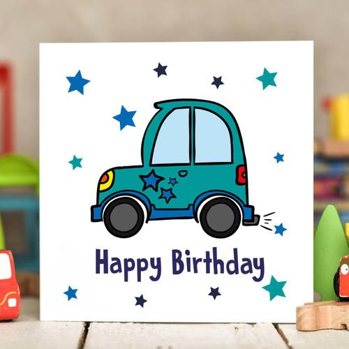 Car Birthday Card - The Crafty Giraffe