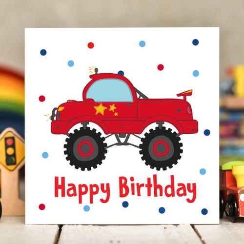Truck Birthday Card - The Crafty Giraffe