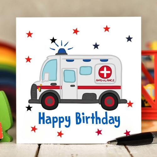 Ambulance Birthday Card - The Crafty Giraffe