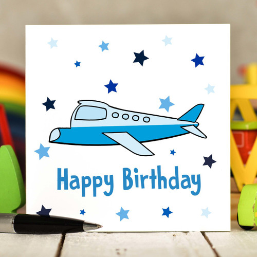 Plane Birthday Card - The Crafty Giraffe