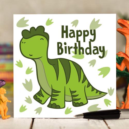 Diplodocus Birthday Card - The Crafty Giraffe