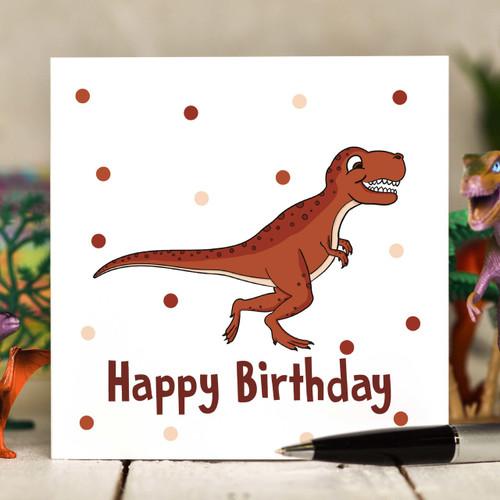 T-Rex Birthday Card - The Crafty Giraffe