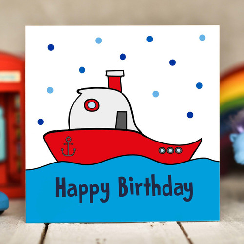 Boat Birthday Card - The Crafty Giraffe