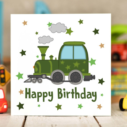 Train Birthday Card - The Crafty Giraffe