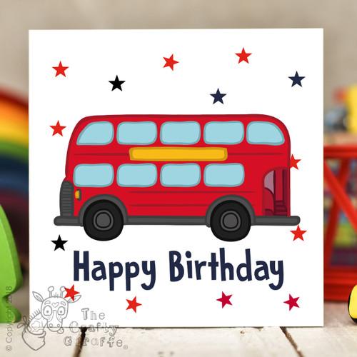 Bus Birthday Card