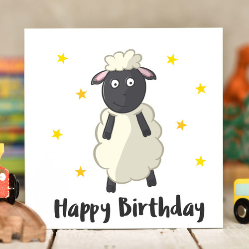 Sheep Birthday Card - The Crafty Giraffe