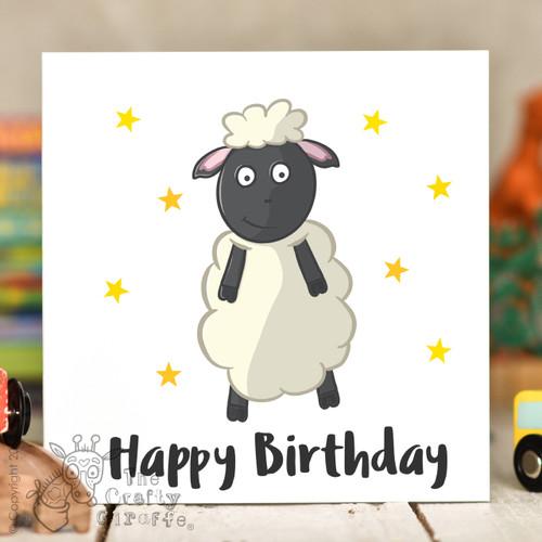 Sheep Birthday Card