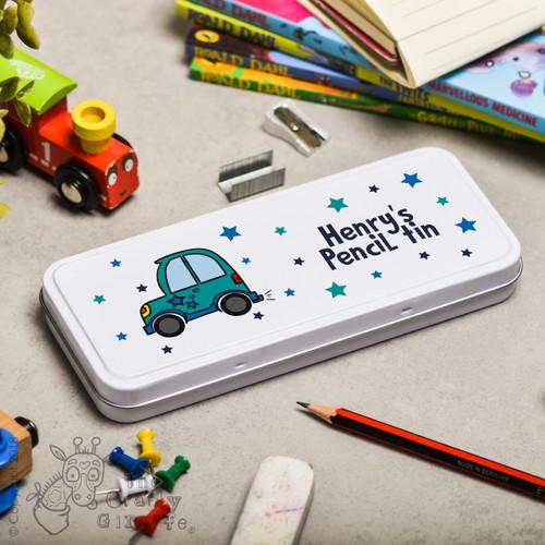 Personalised Car Pencil Tin