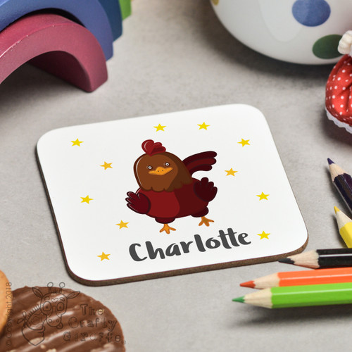 Personalised Chicken Coaster