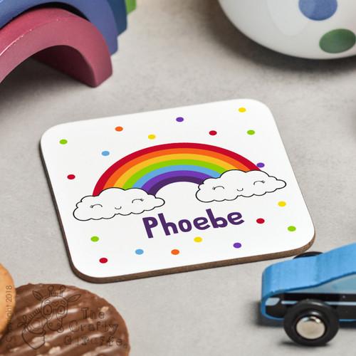 Personalised Rainbow Coaster