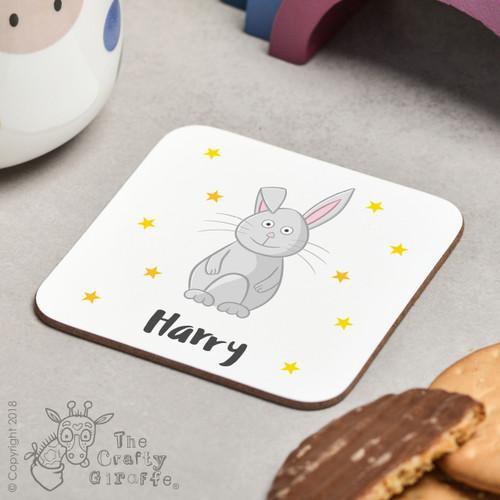 Personalised Rabbit Coaster