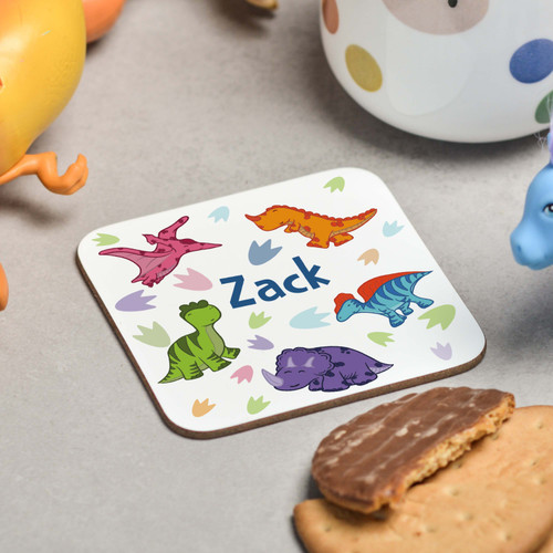 Personalised Dinosaur Coaster - The Crafty Giraffe