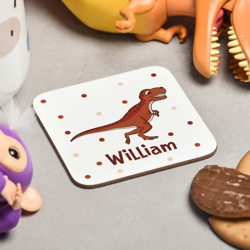 Personalised T-Rex Coaster - The Crafty Giraffe