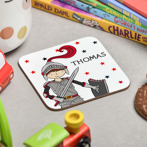 Personalised Knight Coaster - The Crafty Giraffe