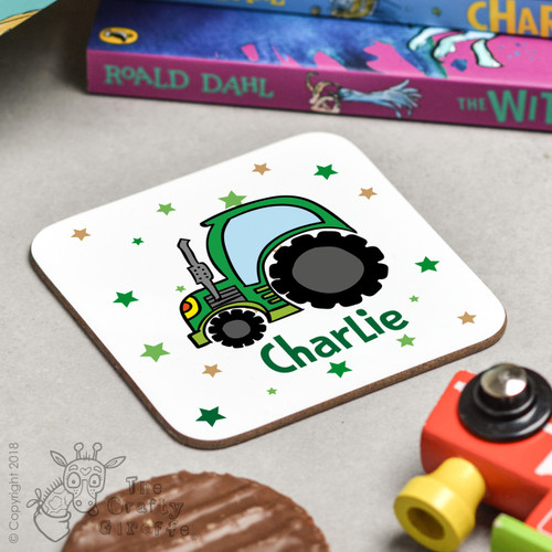 Personalised Tractor Coaster