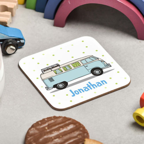 Personalised Campervan Coaster - The Crafty Giraffe