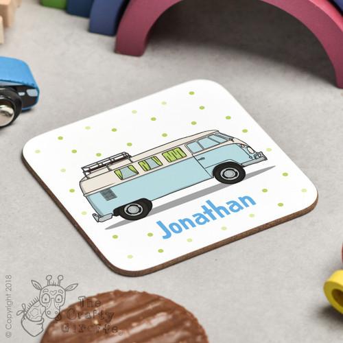 Personalised Campervan Coaster