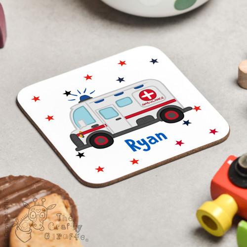 Personalised Ambulance Coaster