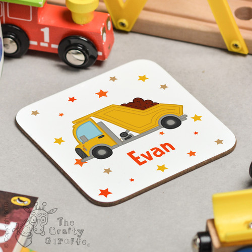 Personalised Dumper Truck Coaster