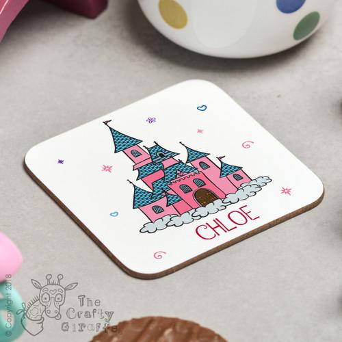 Personalised Princess Castle Coaster