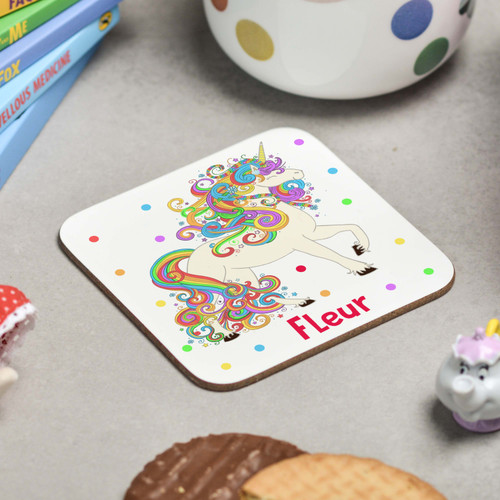 Personalised Unicorn Coaster - The Crafty Giraffe