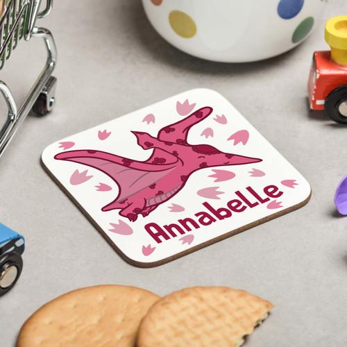 Personalised Pterodactyls Coaster - The Crafty Giraffe