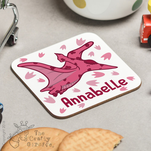 Personalised Pterodactyls Coaster