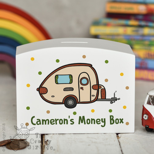 Personalised Caravan Money Box