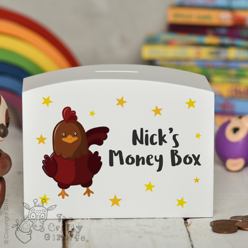 Personalised Chicken Money Box