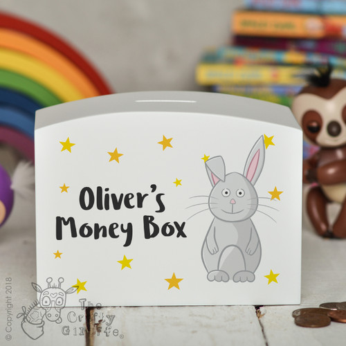 Personalised Rabbit Money Box