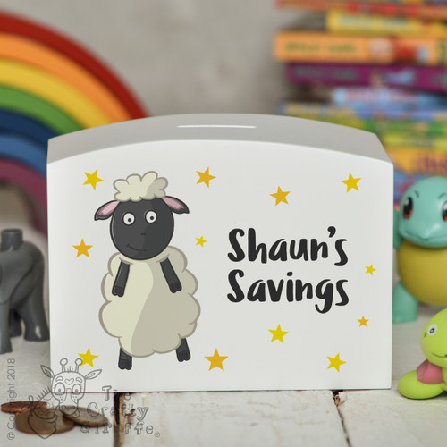 Personalised Sheep Money Box