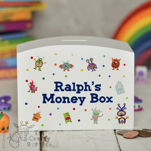 Personalised Monsters Money Box