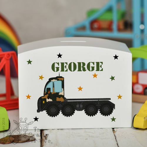 Personalised Transporter Money Box