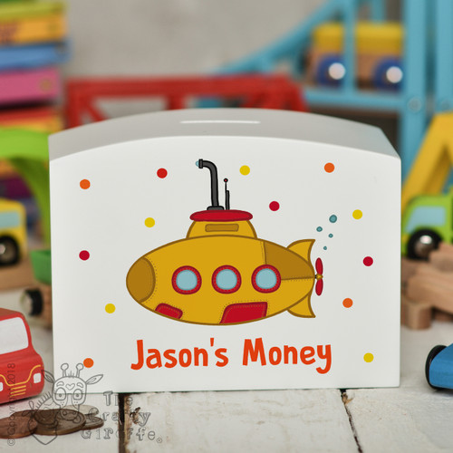 Personalised Submarine Money Box