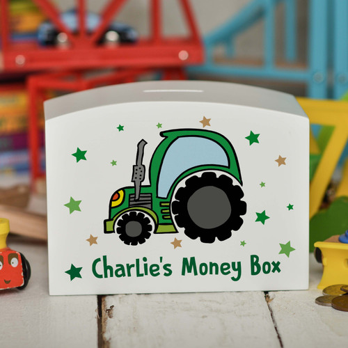 Personalised Tractor Money Box