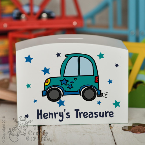 Personalised Car Money Box