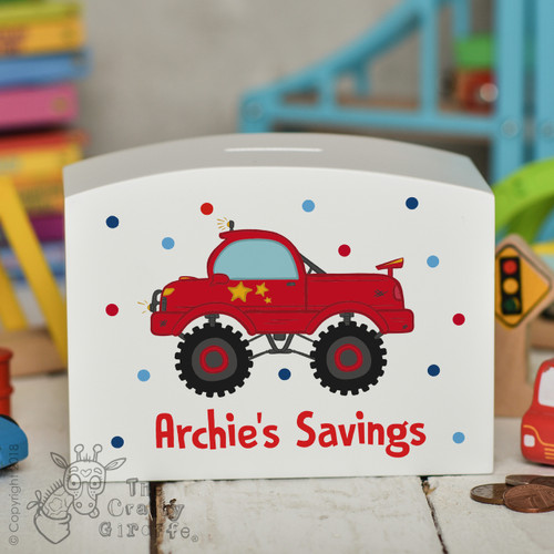 Personalised Truck Money Box