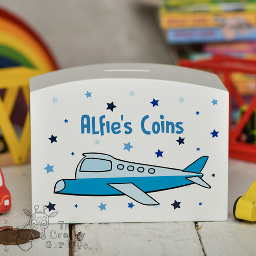 Personalised Plane Money Box