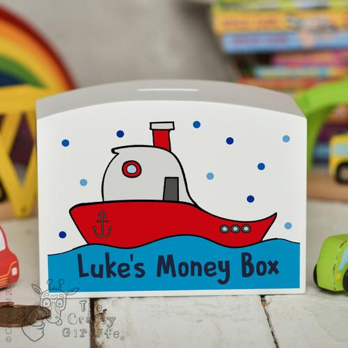 Personalised Boat Money Box