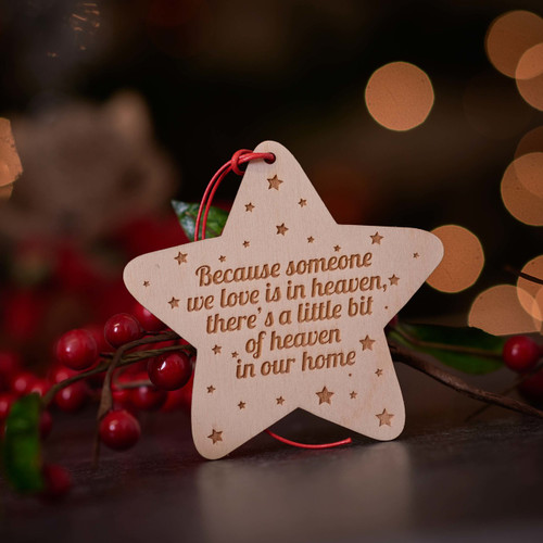 Personalised Star Decoration - Personalised Christmas Tree Decorations The Crafty Giraffe