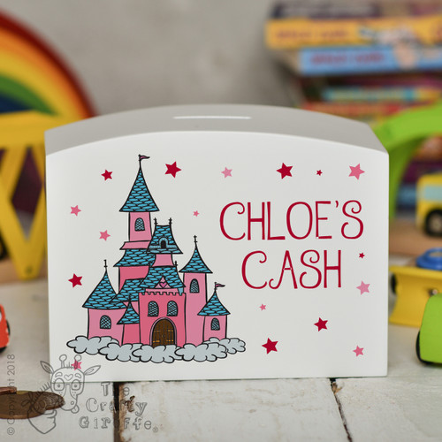 Personalised Princess Castle Money Box