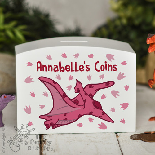 Personalised Pterodactyls Money Box