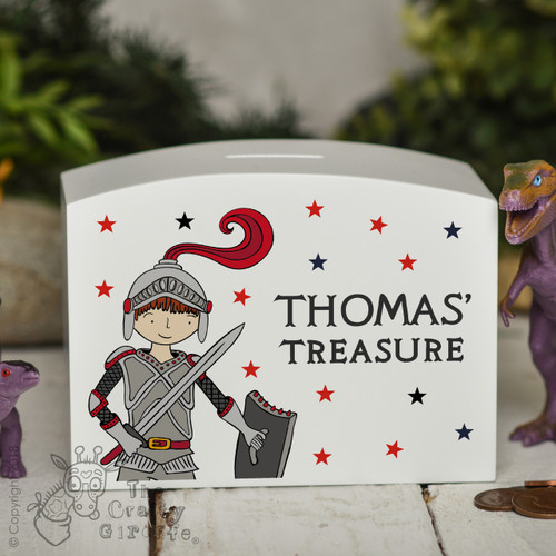 Personalised Knight Money Box